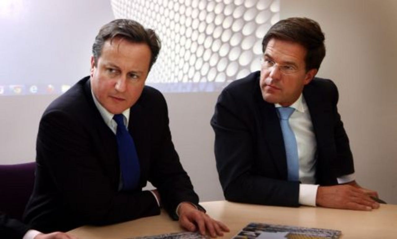 Rutte en Cameron in november 2011. ANP