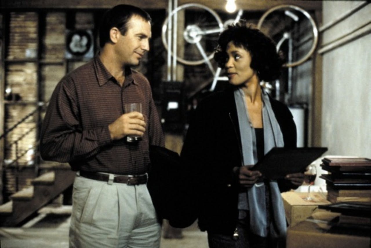 Whitney met Kevin Costner in The Bodyguard. ANP Kippa