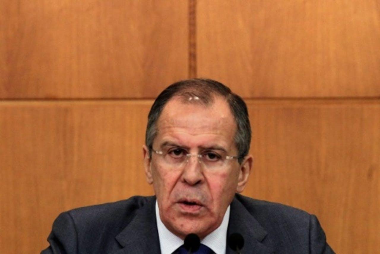 De Russische minister van Buitenlandse Zaken Lavrov. EPA