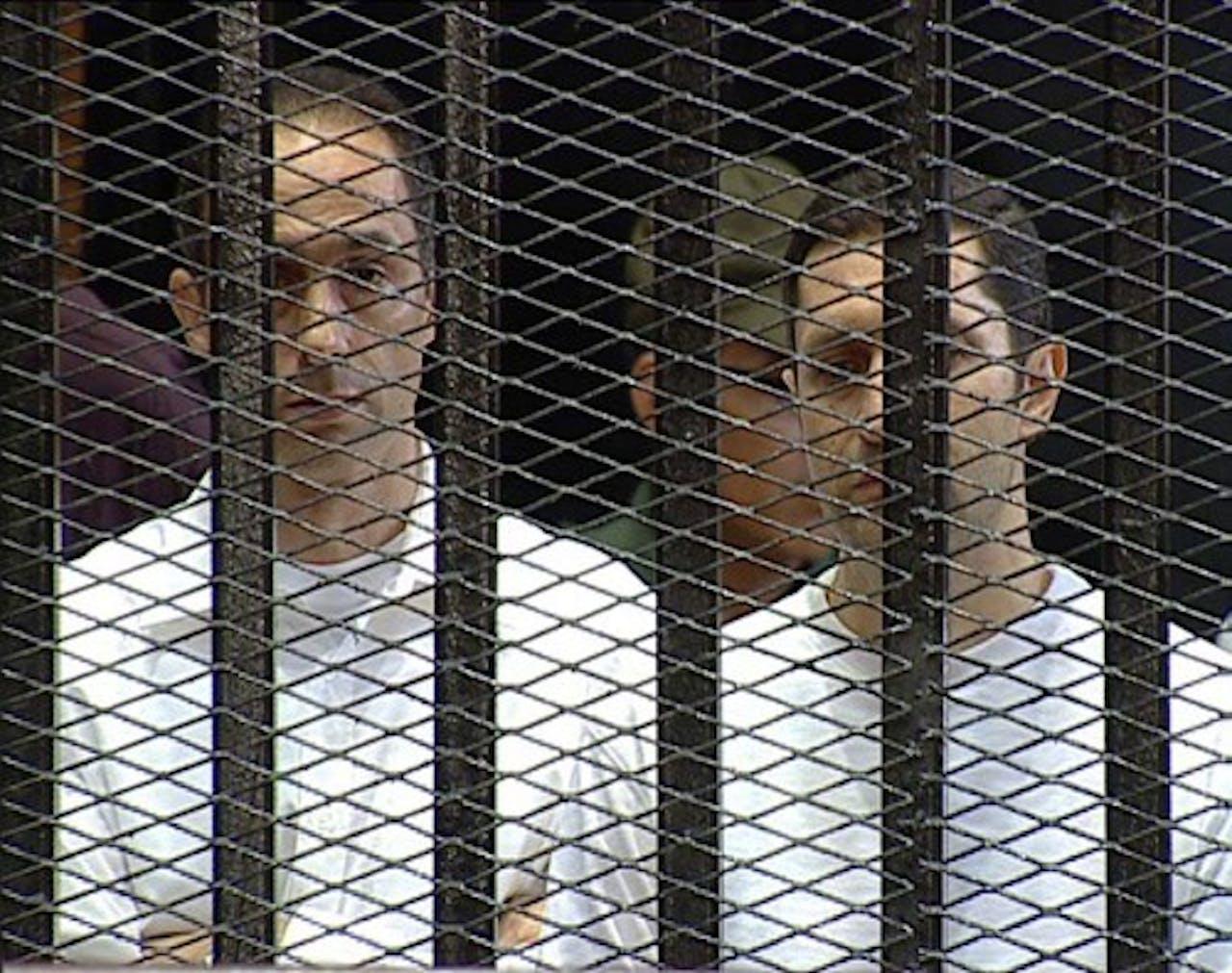 Gamal Mubarak (L) and Alaa Mubarak (R).
