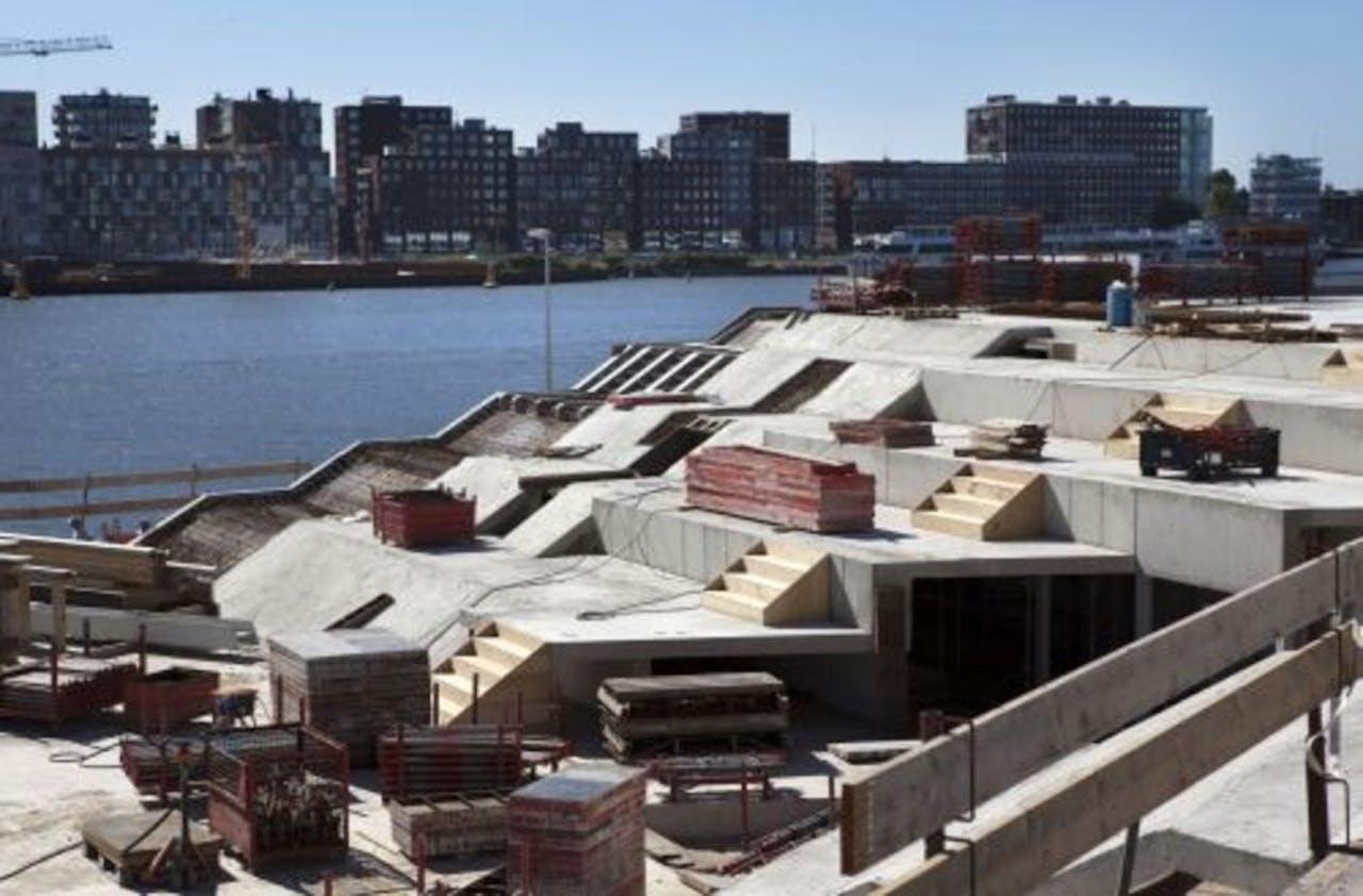 De bouw van het filmmuseum EYE. ANP