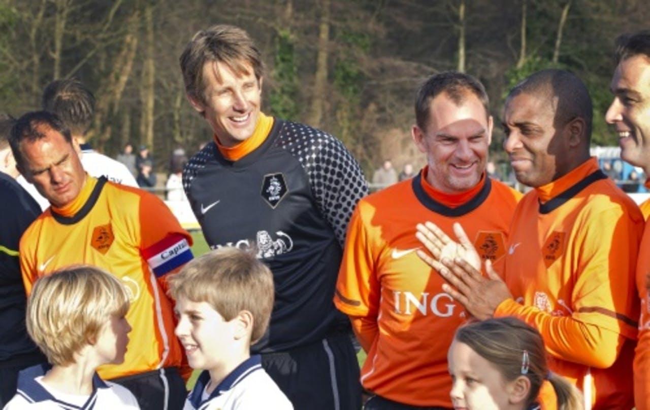 Frank de Boer, Edwin van der Sar, Ronald de Boer en Bryan Roy. ANP