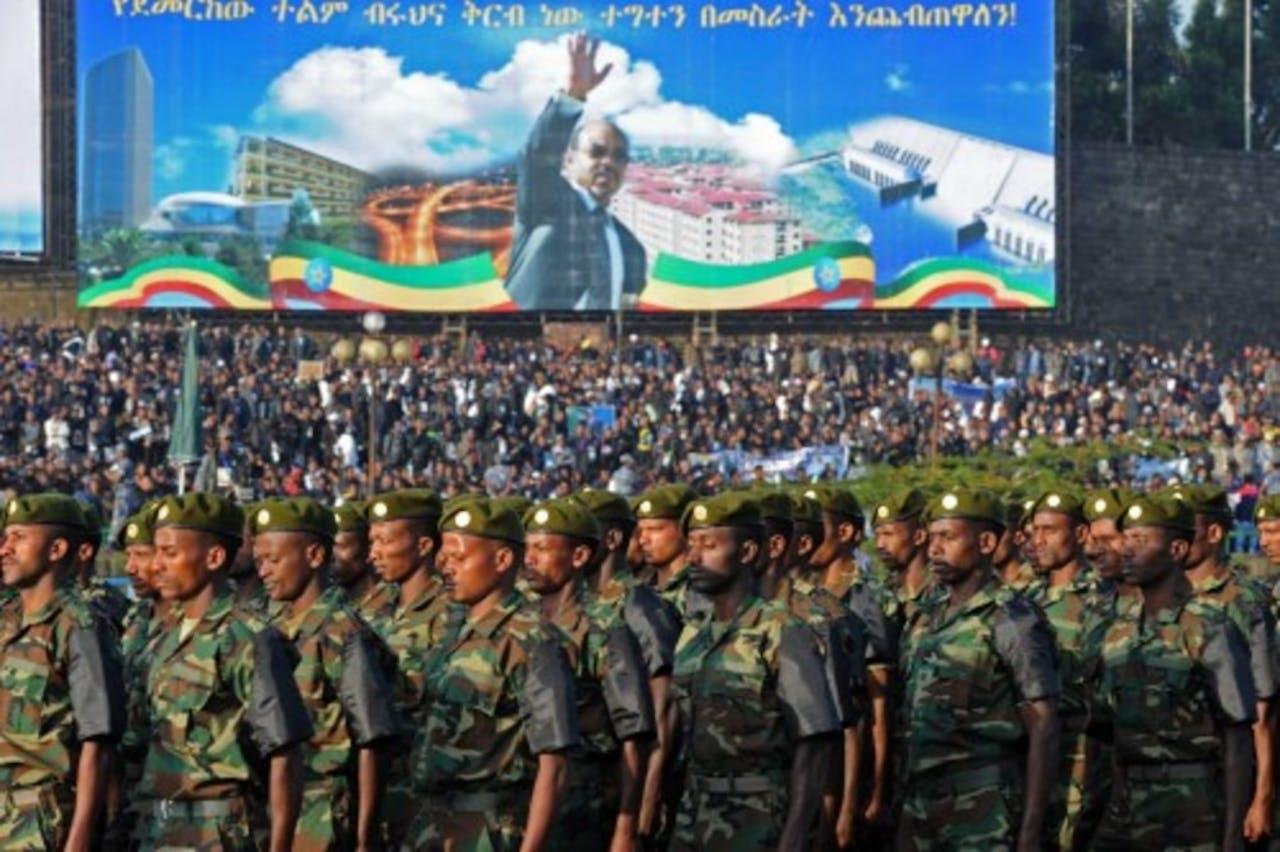 Meles Zenawi werd op 2 september begraven. EPA