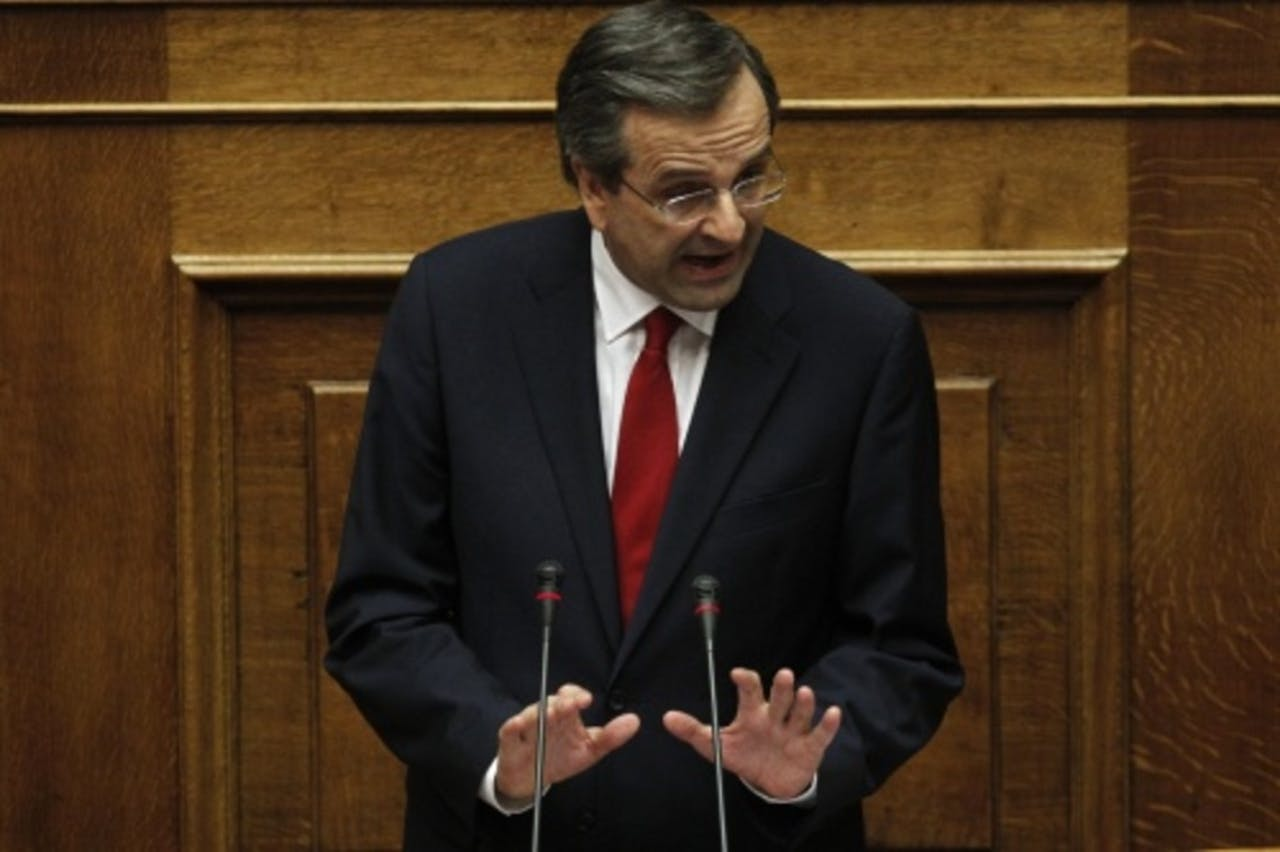 De Griekse premier Antonis Samaras. EPA