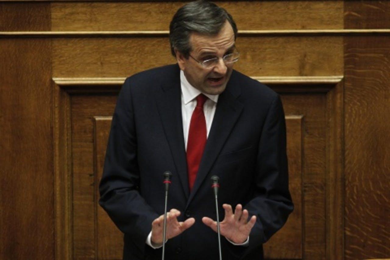De Griekse premier Antonis Samaras.EPA