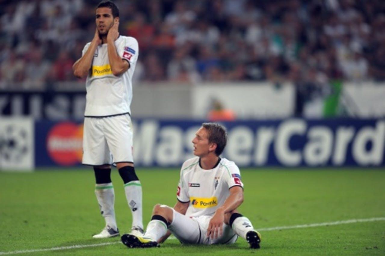 Luuk de Jong (R) en Alvaro Dominguez van Borussia Mönchengladbach. EPA