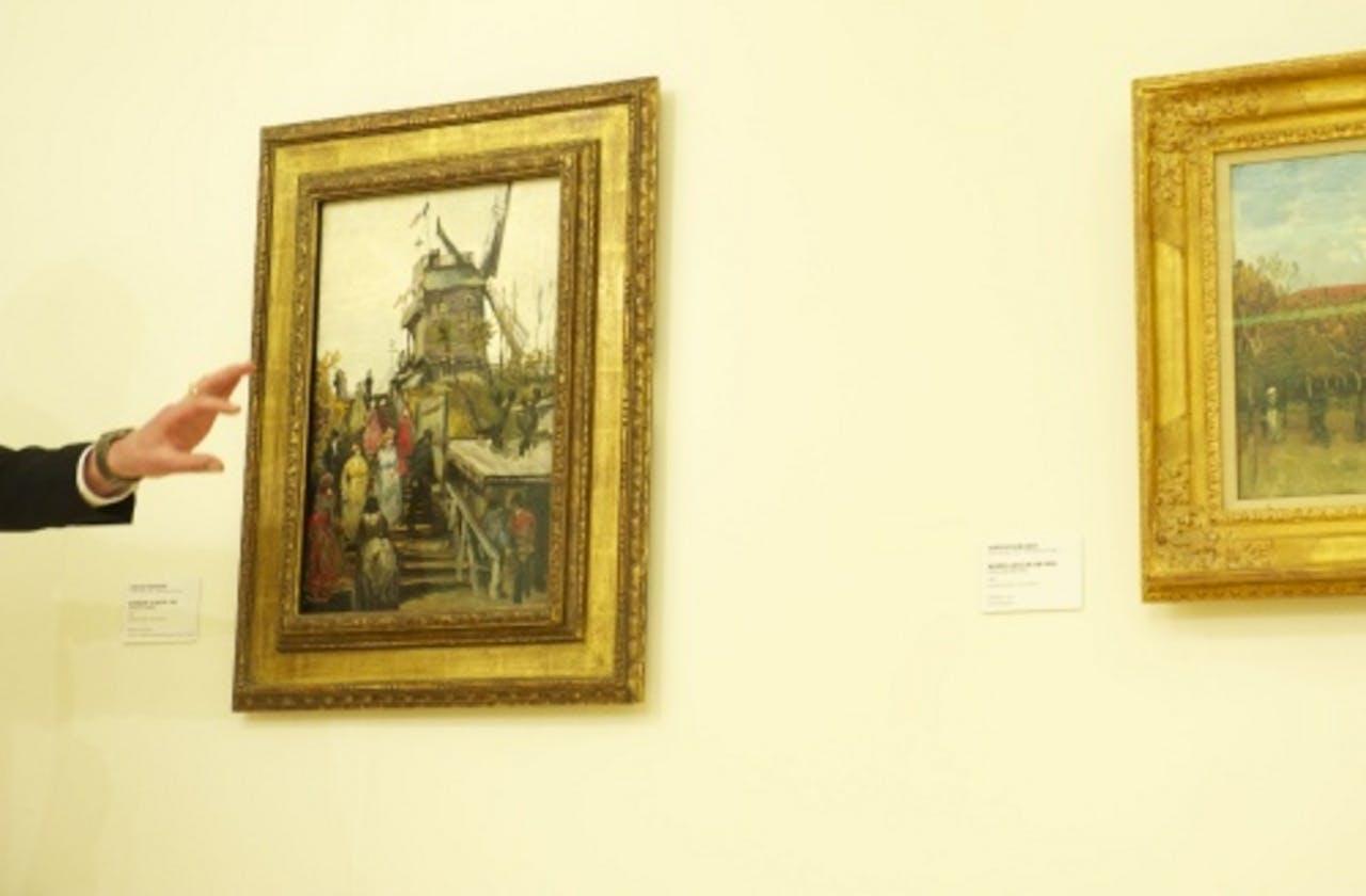 Doek van Vincent van Gogh in museum de Fundatie (2010). ANP
