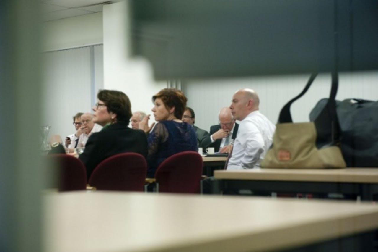 CDA-voorzitter Ruth Peetoom (M) tijdens de besloten vergadering van het partijbestuur in Utrecht. ANP