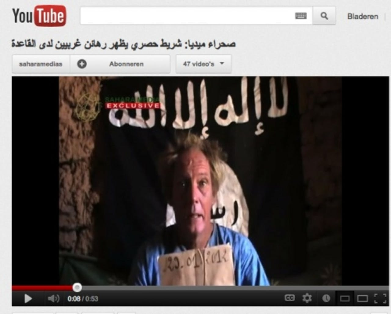 Sjaak Rijke in een oudere videoboodschap. ANP