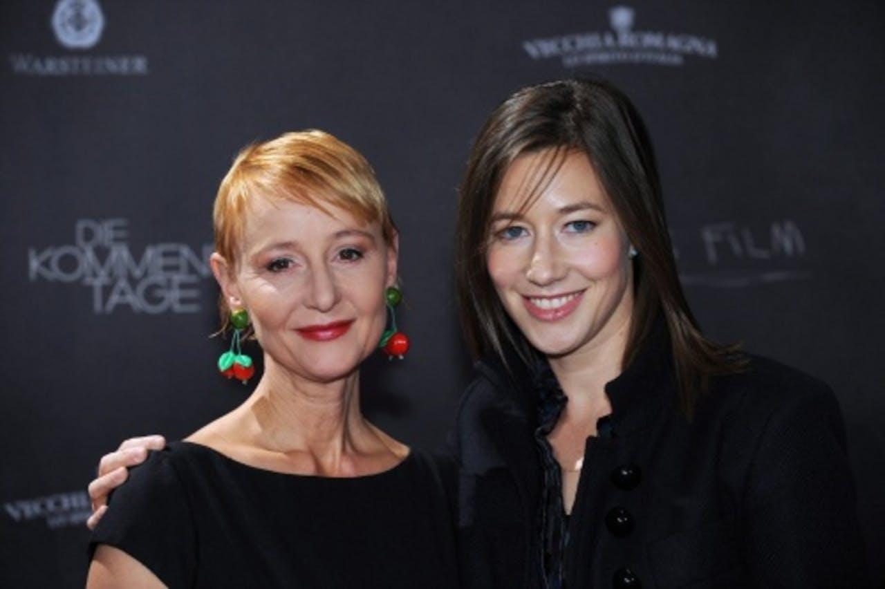 Susanne Lothar (L) met Johanna Wokalek. EPA