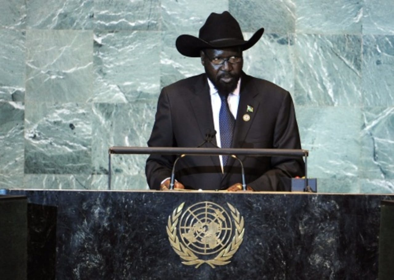 De Zuid-Sudanese president Salva Kiir. EPA