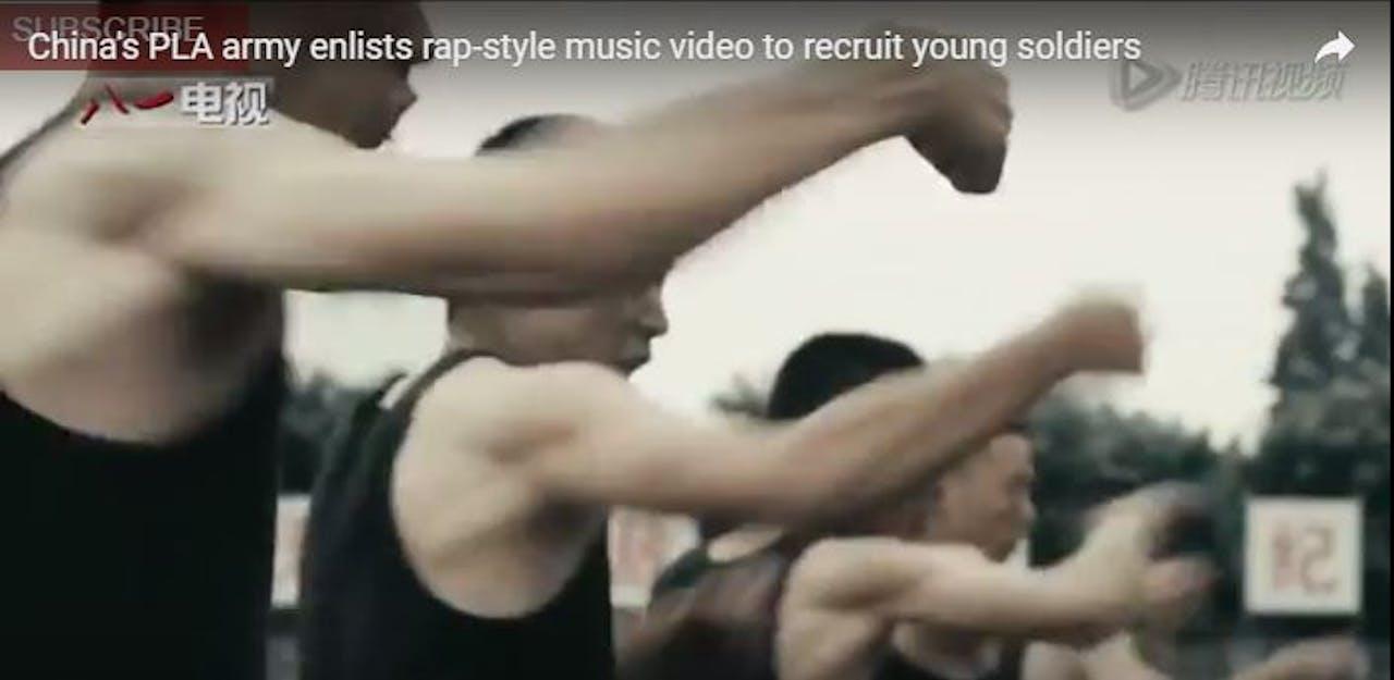 Fragment uit Chinese rekruteringsvideo