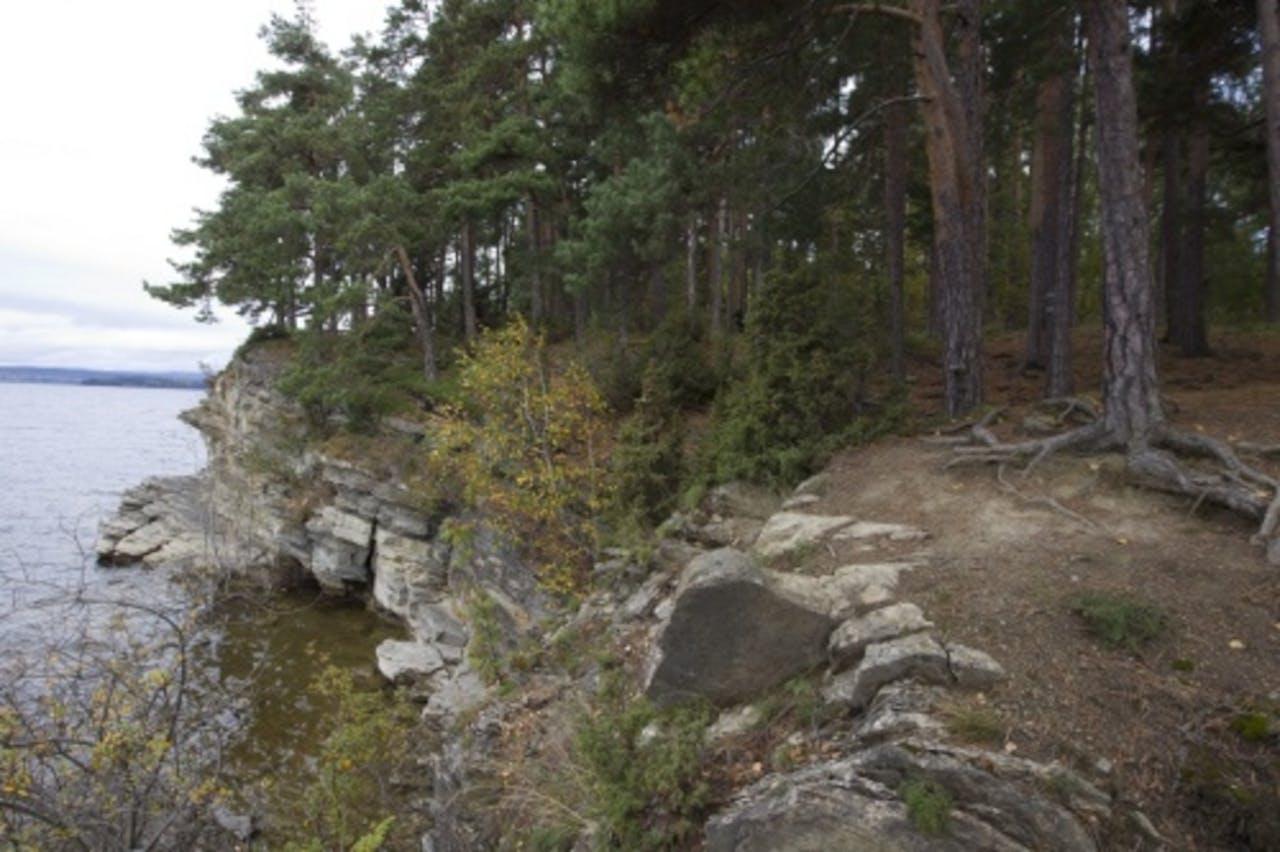 Het eiland Utoya. EPA