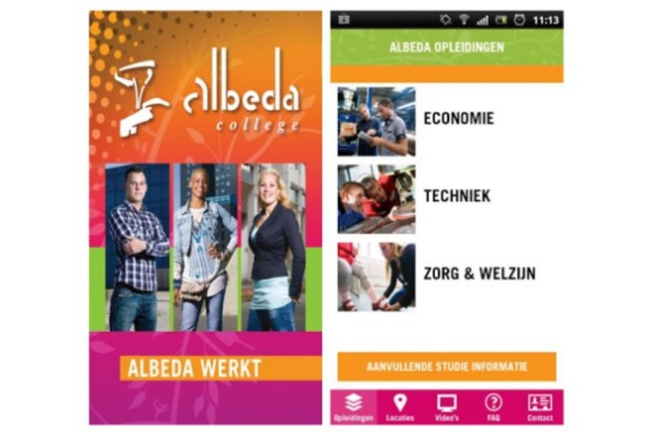 Albeda College wil via mobiele site inspelen op belevingswereld studenten