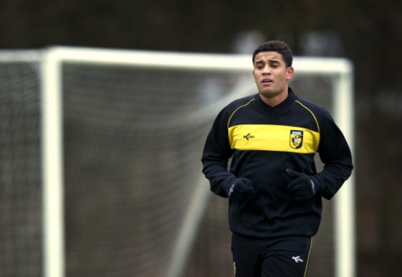 Jonathan Reis tijdens de training. ANP