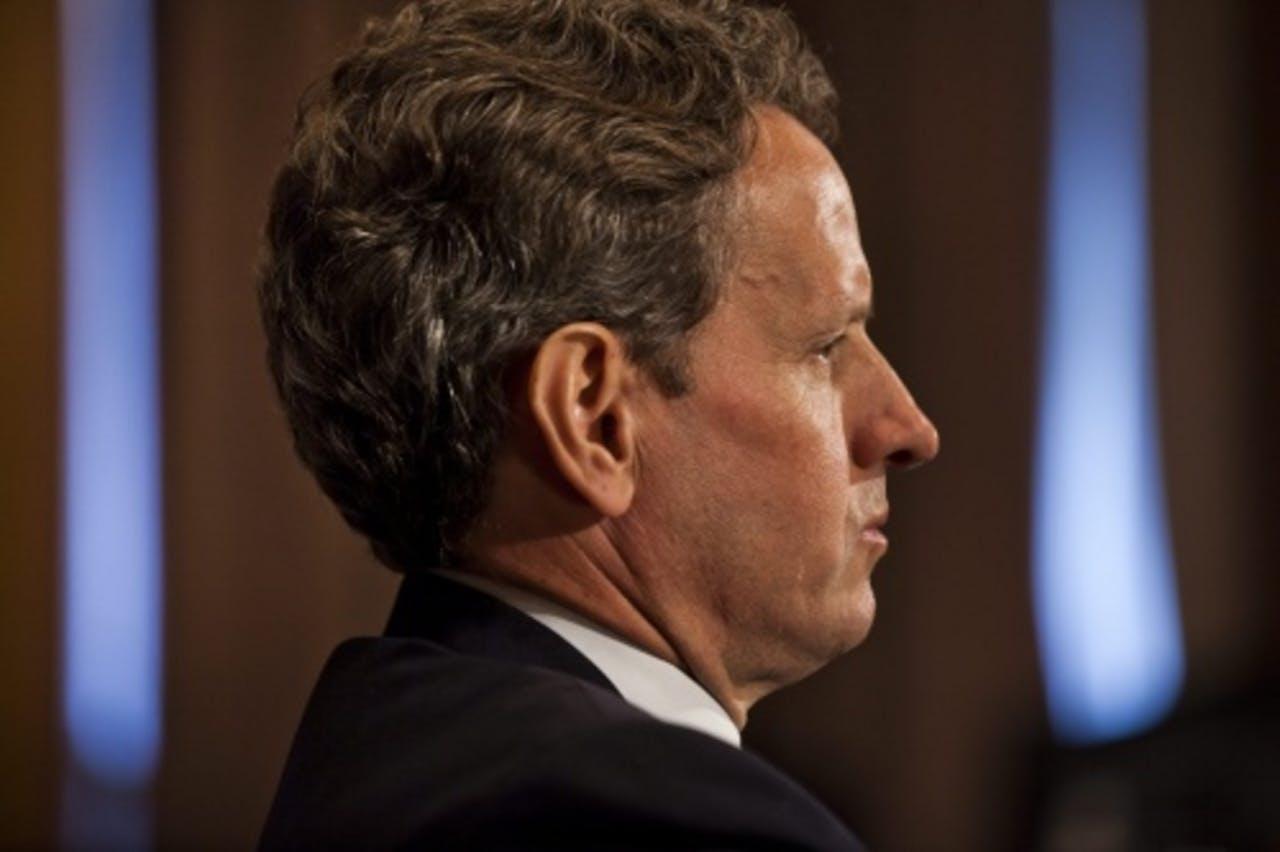 De Amerikaanse minister van Financiën Timothy Geithner. EPA