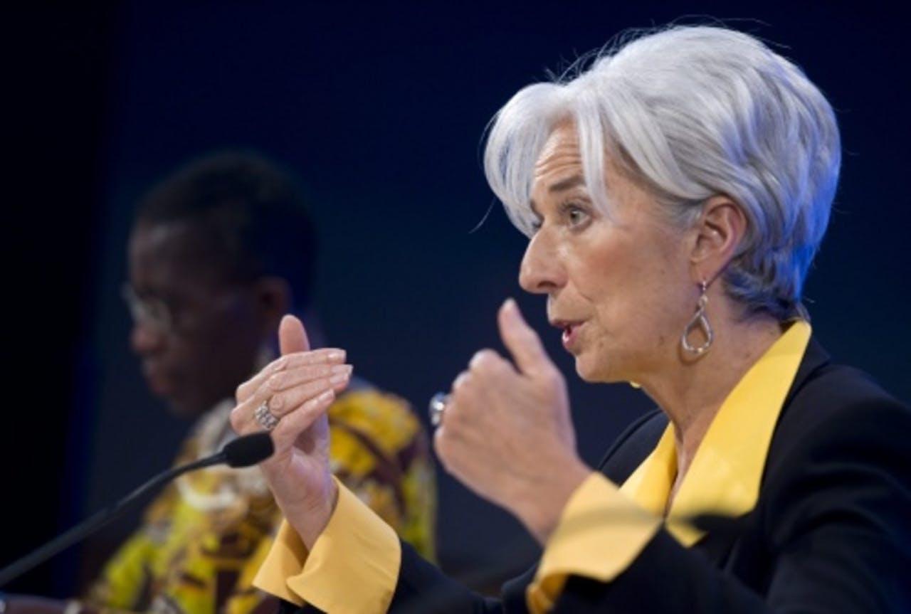 IMF-baas Christine Lagarde. EPA