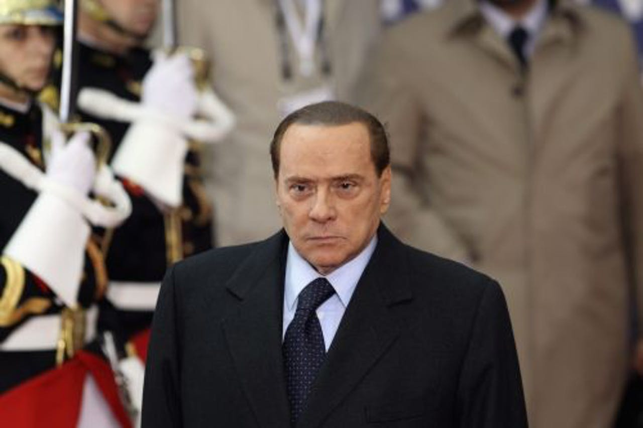 De Italiaanse premier Berlusconi. EPA