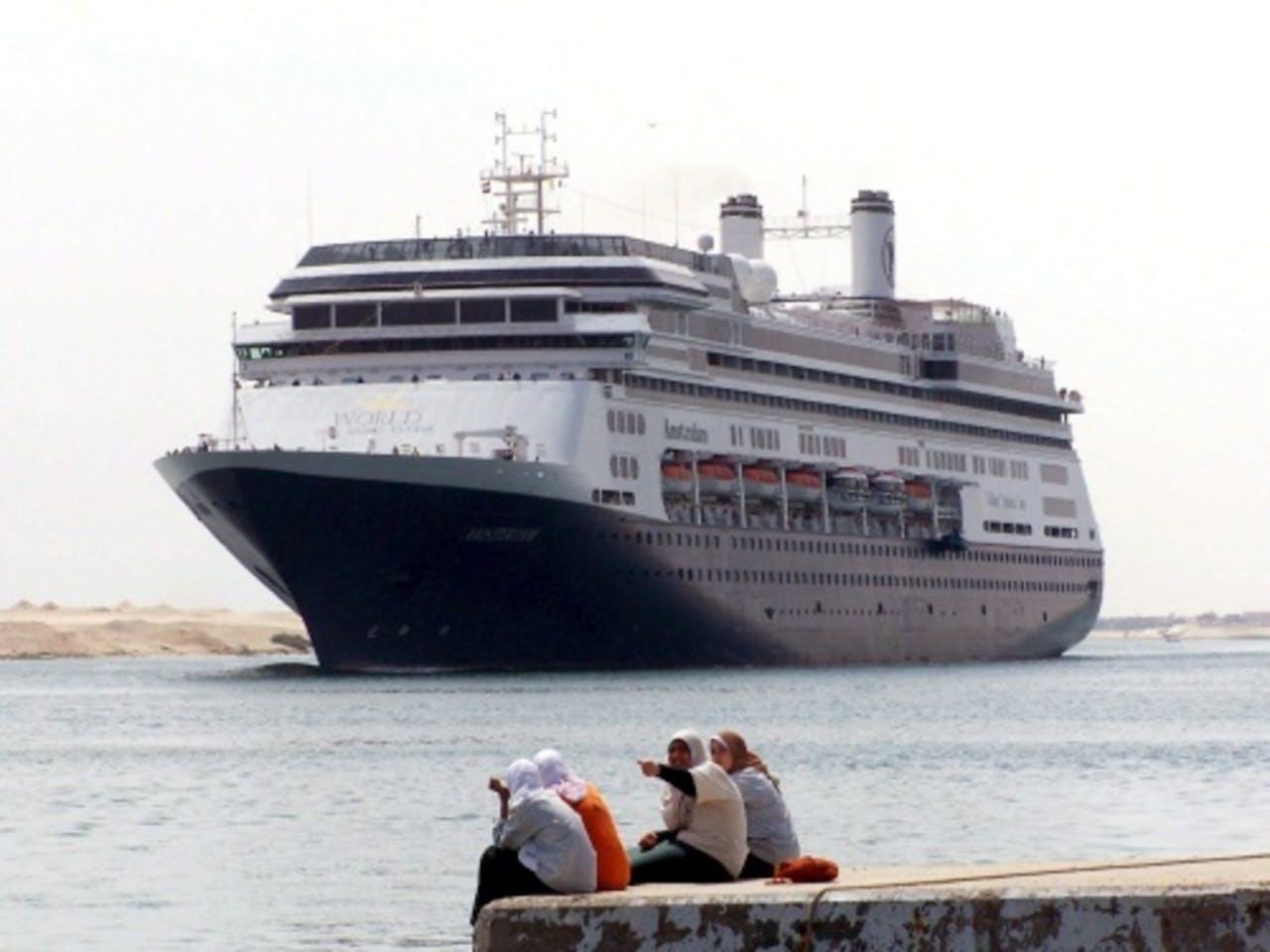 Het Nederlandse schip 'Ms Amsterdam'. EPA