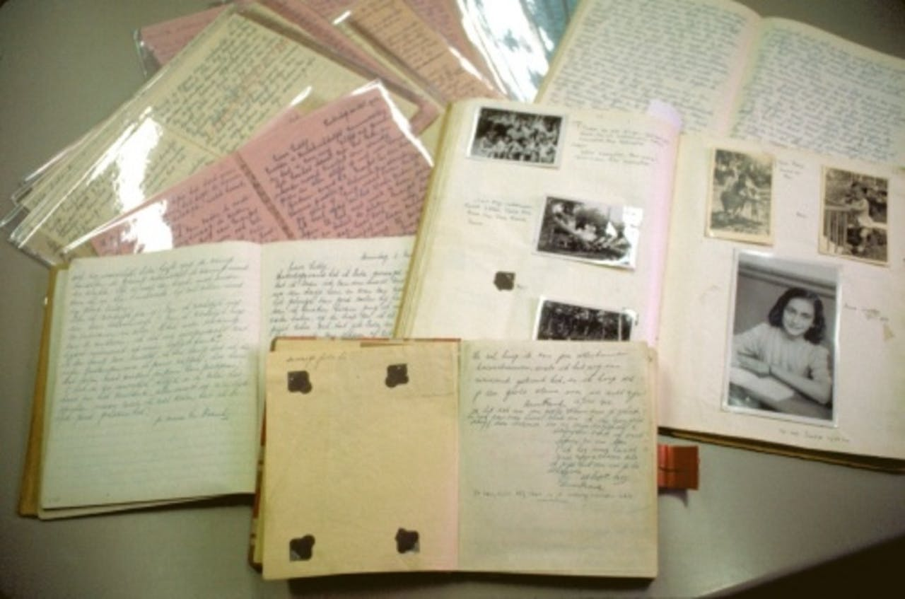 Dagboeken van Anne Frank. ANP
