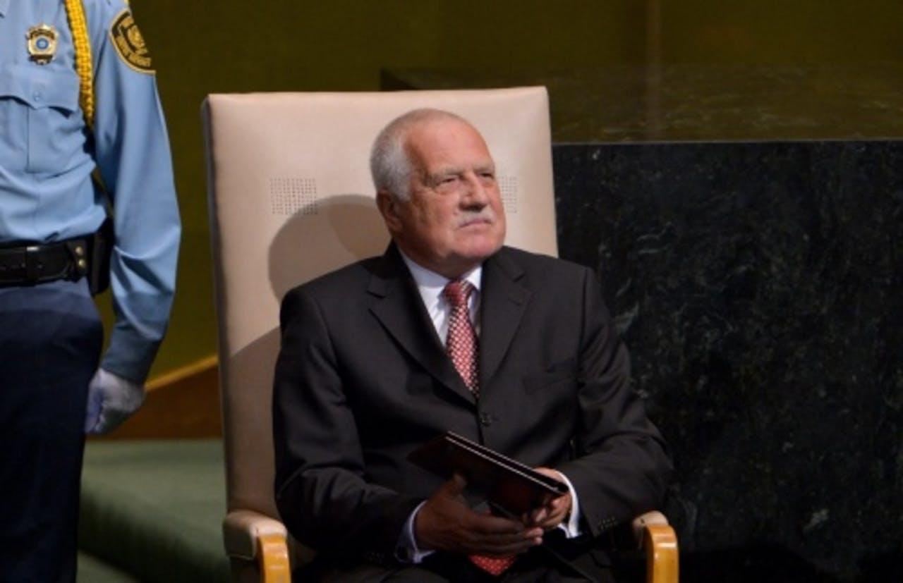 Archiefbeeld van de Tsjechische president Vaclav Klaus. EPA