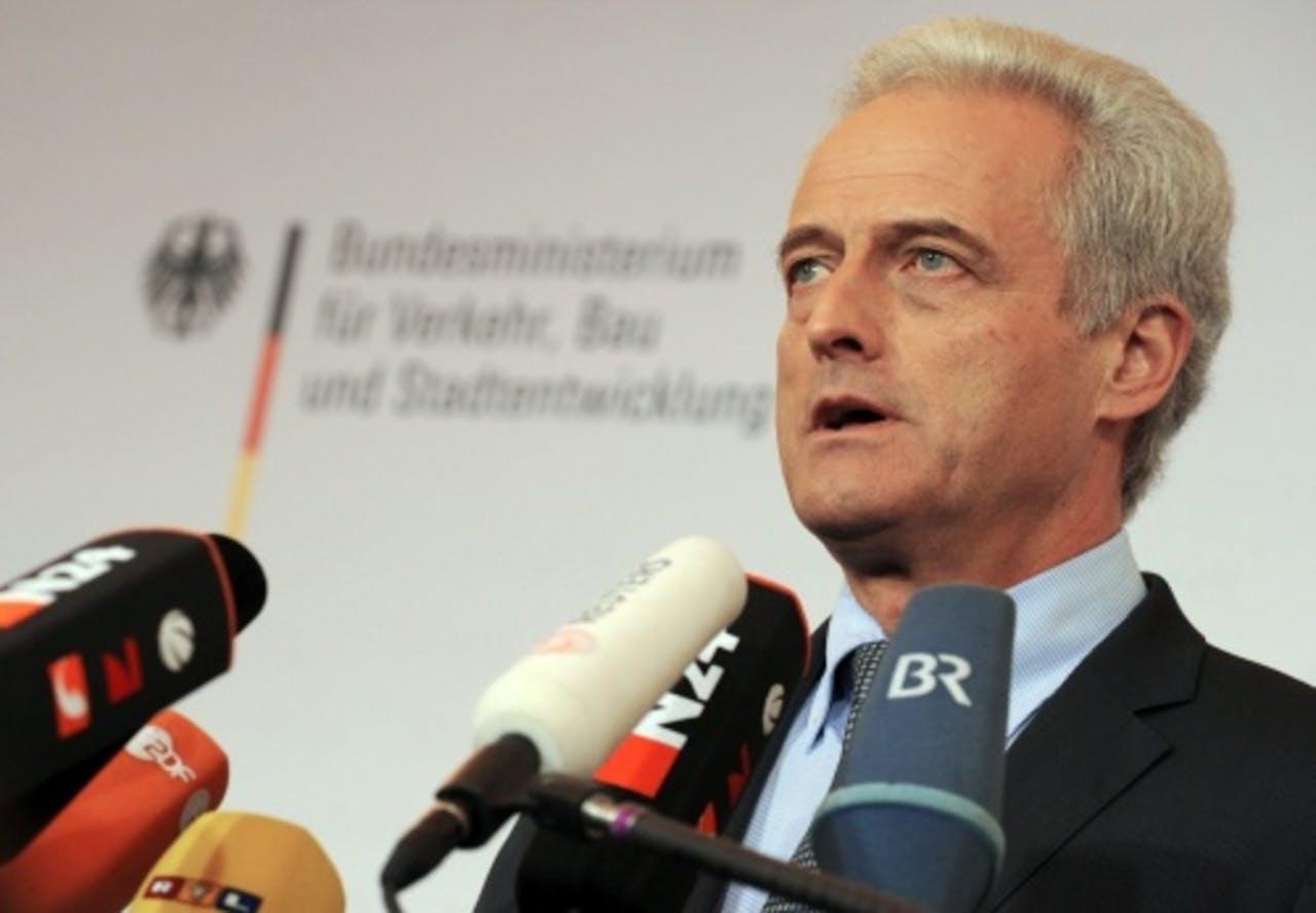 De Duitse minister van Verkeer, Peter Ramsauer. EPA
