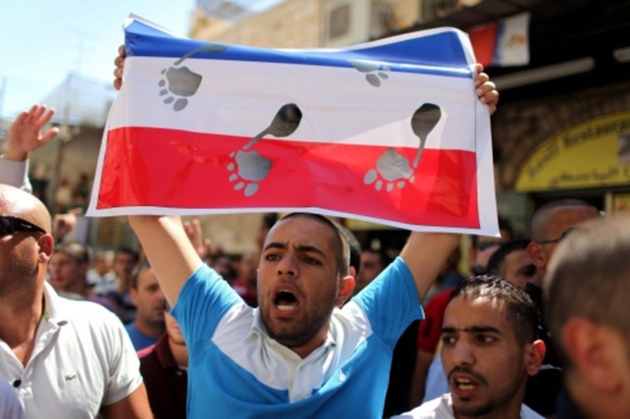 Palestijn boos op Frankrijk. EPA