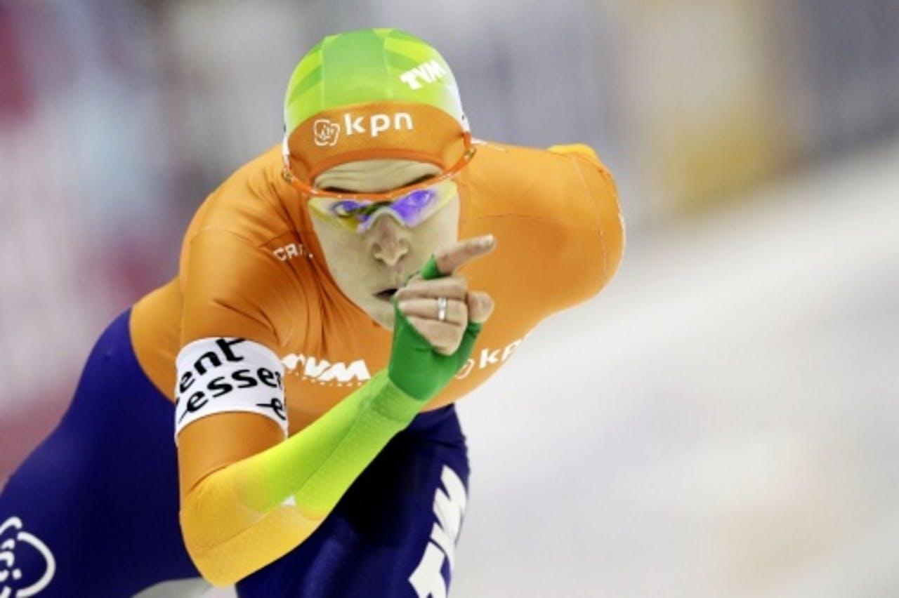 Ireen Wüst tijdens de 1500 meter. ANP