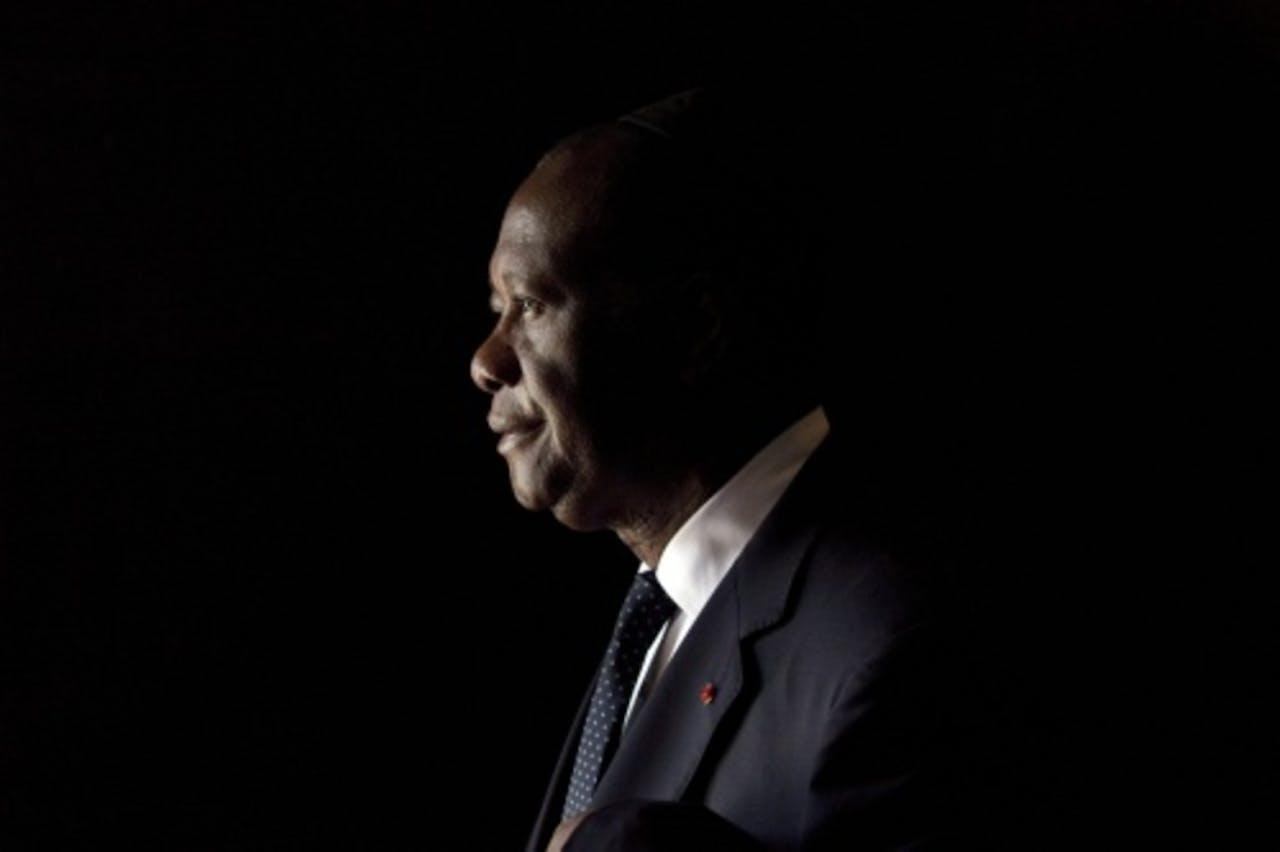 De president van Ivoorkust Alassane Ouattara. EPA