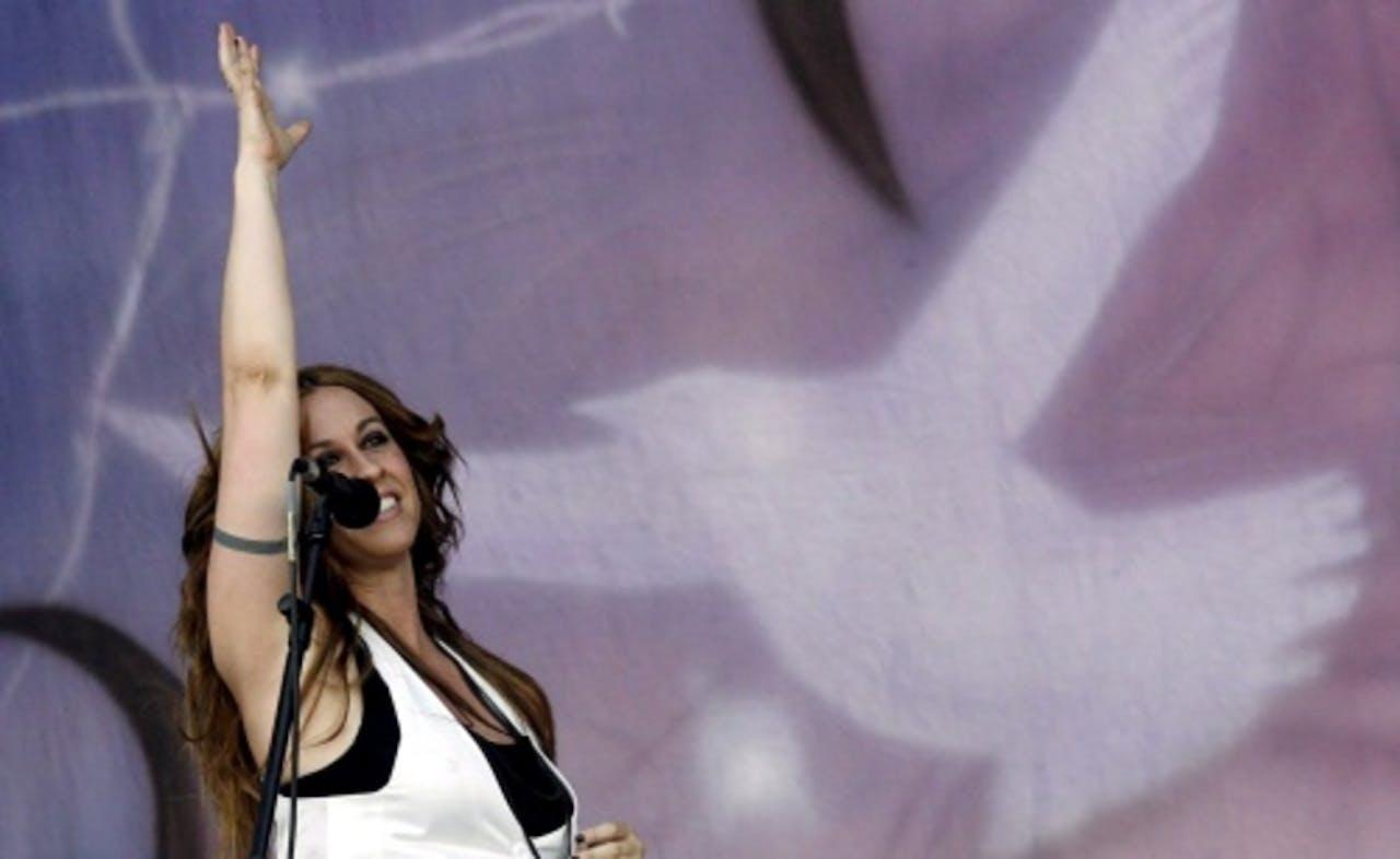 Alanis Morissette, archieffoto: 2008. EPA