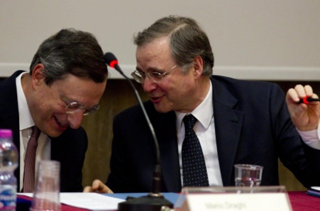 Ignazio Visco (R). EPA