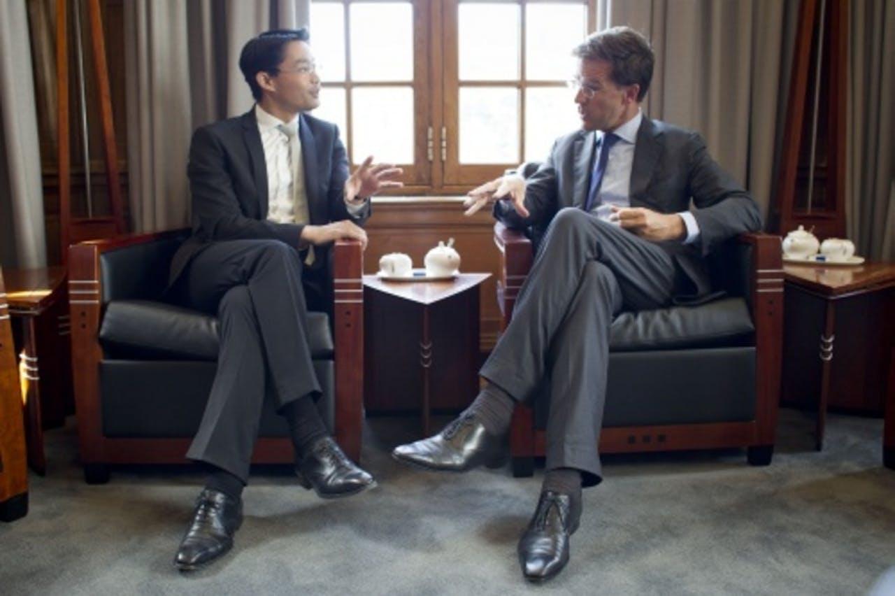 Philipp Rösler eerder dit jaar op bezoek bij premier Rutte. ANP