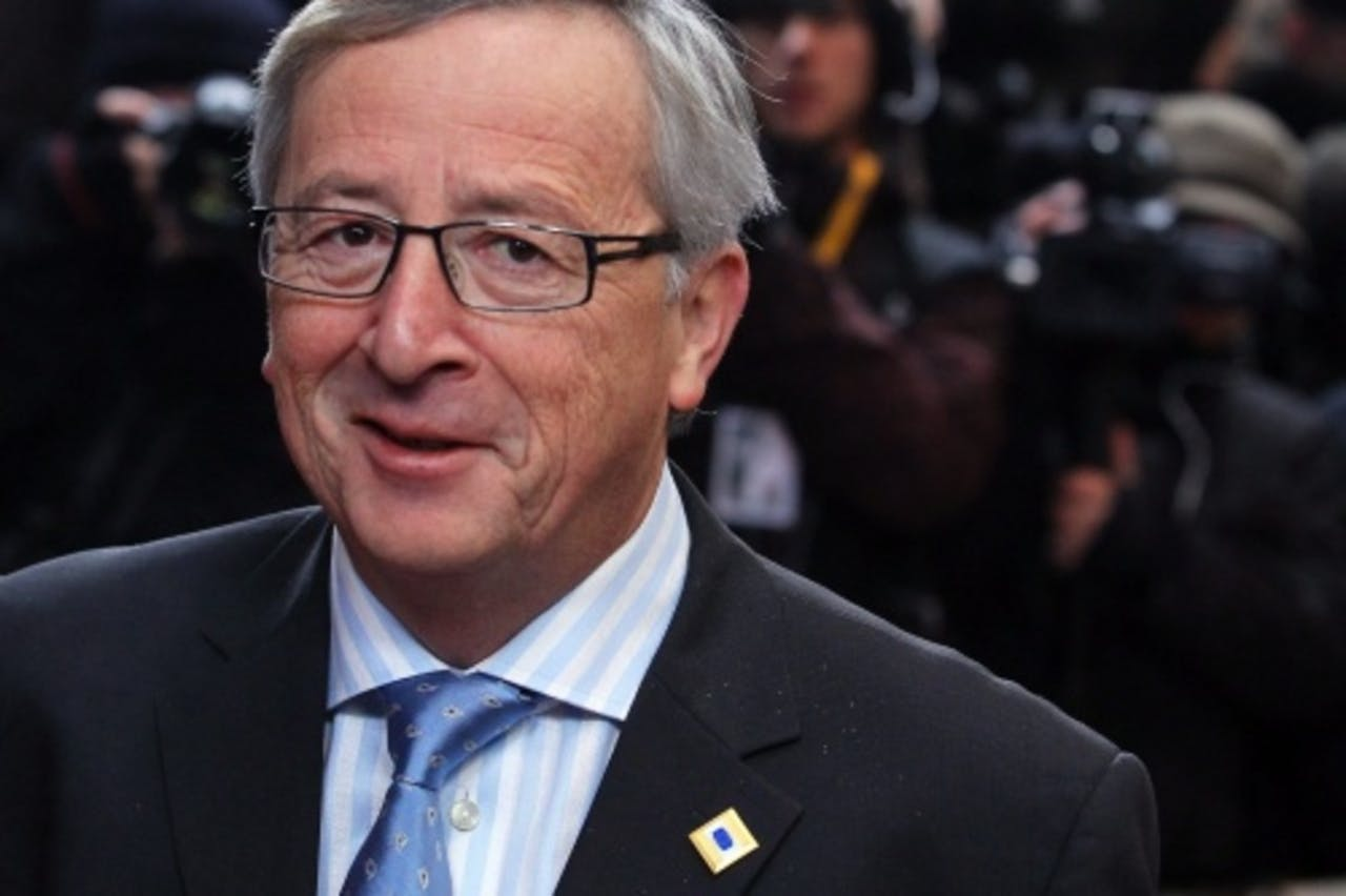 De Luxemburgse premier Jean-Claude Juncker, de voorzitter van de eurogroep. EPA