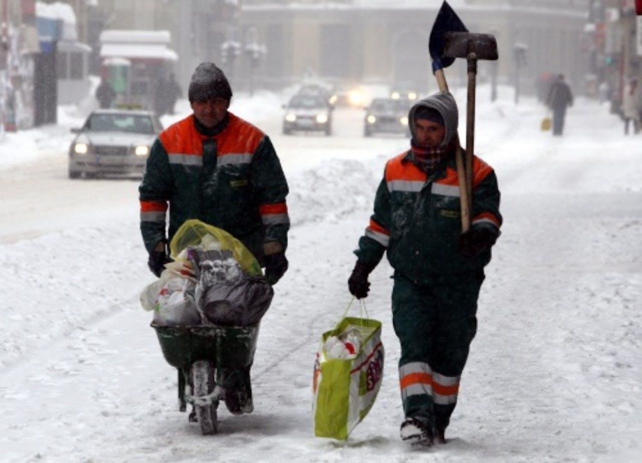 Archiefbeeld van sneeuw in Sarajevo. EPA