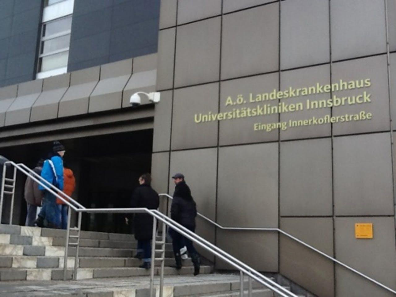 Het ziekenhuis in Innsbruck. ANP