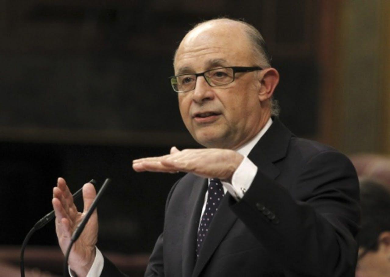 De Spaanse minister van Financiën Cristobal Montoro. EPA