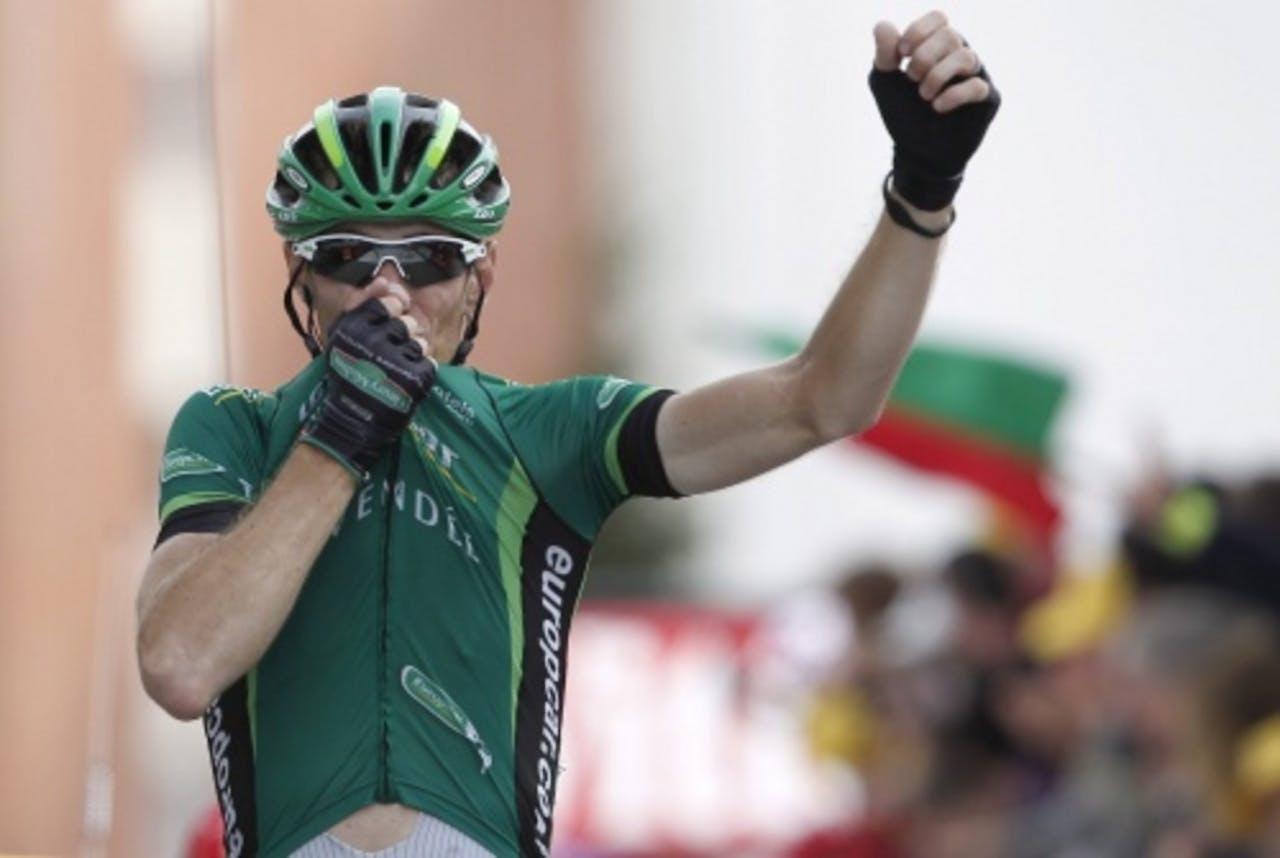 De Franse etappewinnaar Pierre Rolland. EPA