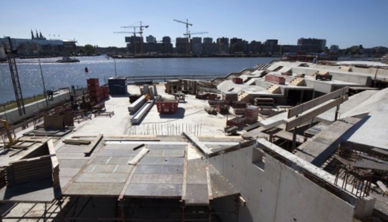 Het filmmuseum EYE in aanbouw (archieffoto 2010). ANP