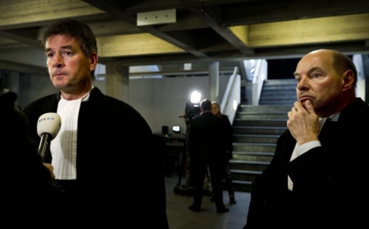 Archiefbeeld van de advocaten van Robert M., Tjalling van der Goot (L) en Wim Anker (R). ANP