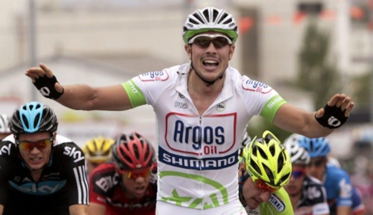 Degenkolb won zondag ook al de tweede etappe van de Vuelta. EPA