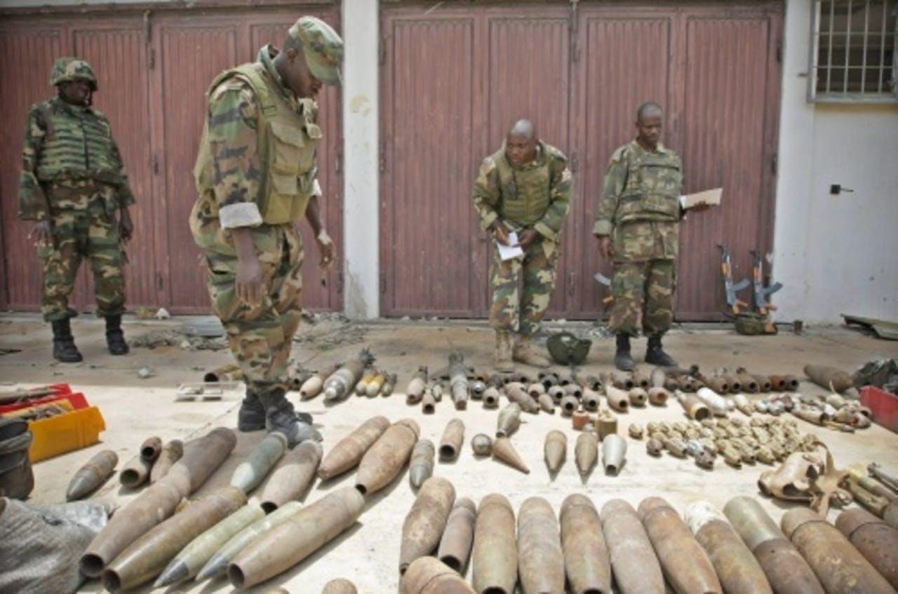 Een wapendepot van al-Shabaab in Afrika. EPA