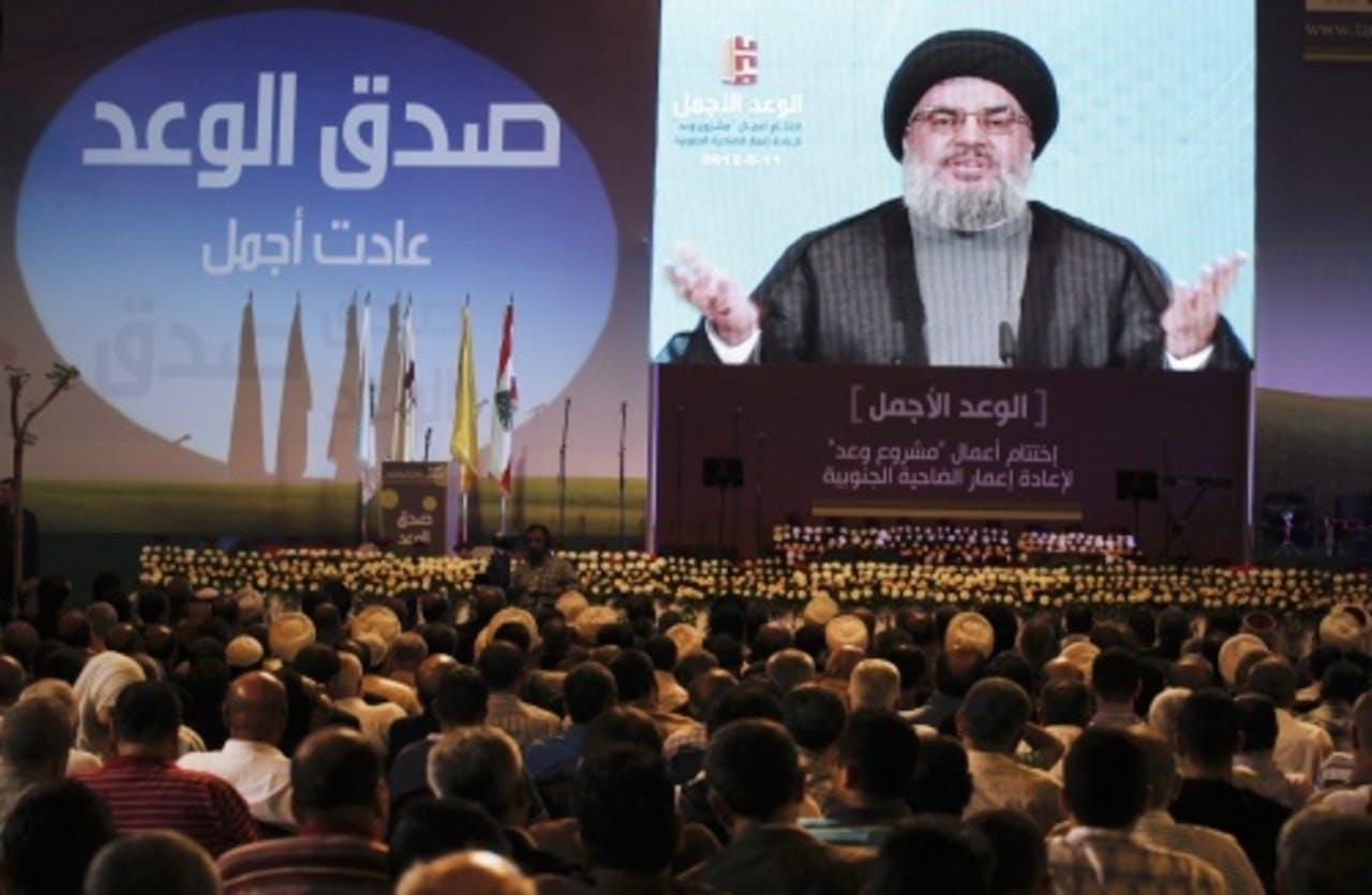 Toespraak van Sayyed Hassan Nasrallah (archief). EPA