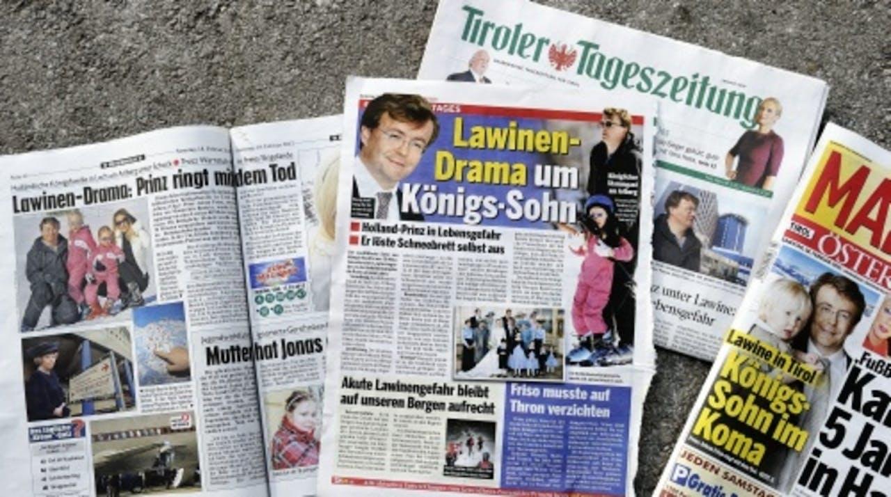 Buitenlandse media berichtten eerder deze week ook over de gezondheidstoestand van de prins. ANP