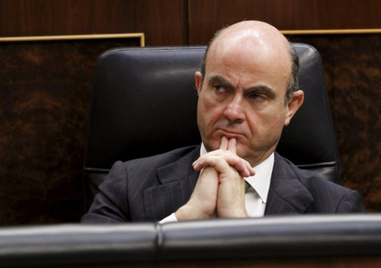 De Spaanse minister van Economische Zaken Luis de Guindos. EPA