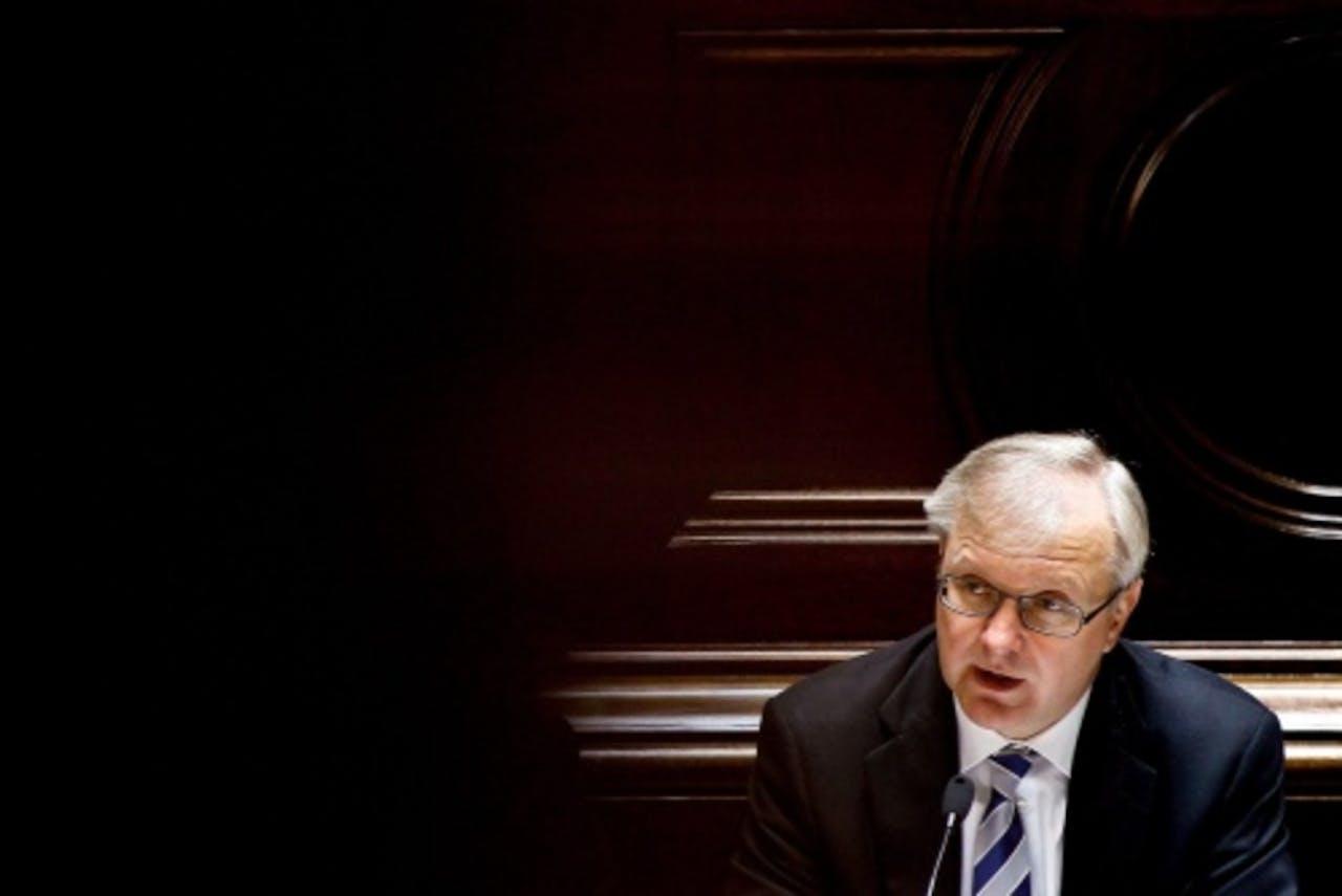 Eurocommissaris Olli Rehn (Monetaire zaken). EPA