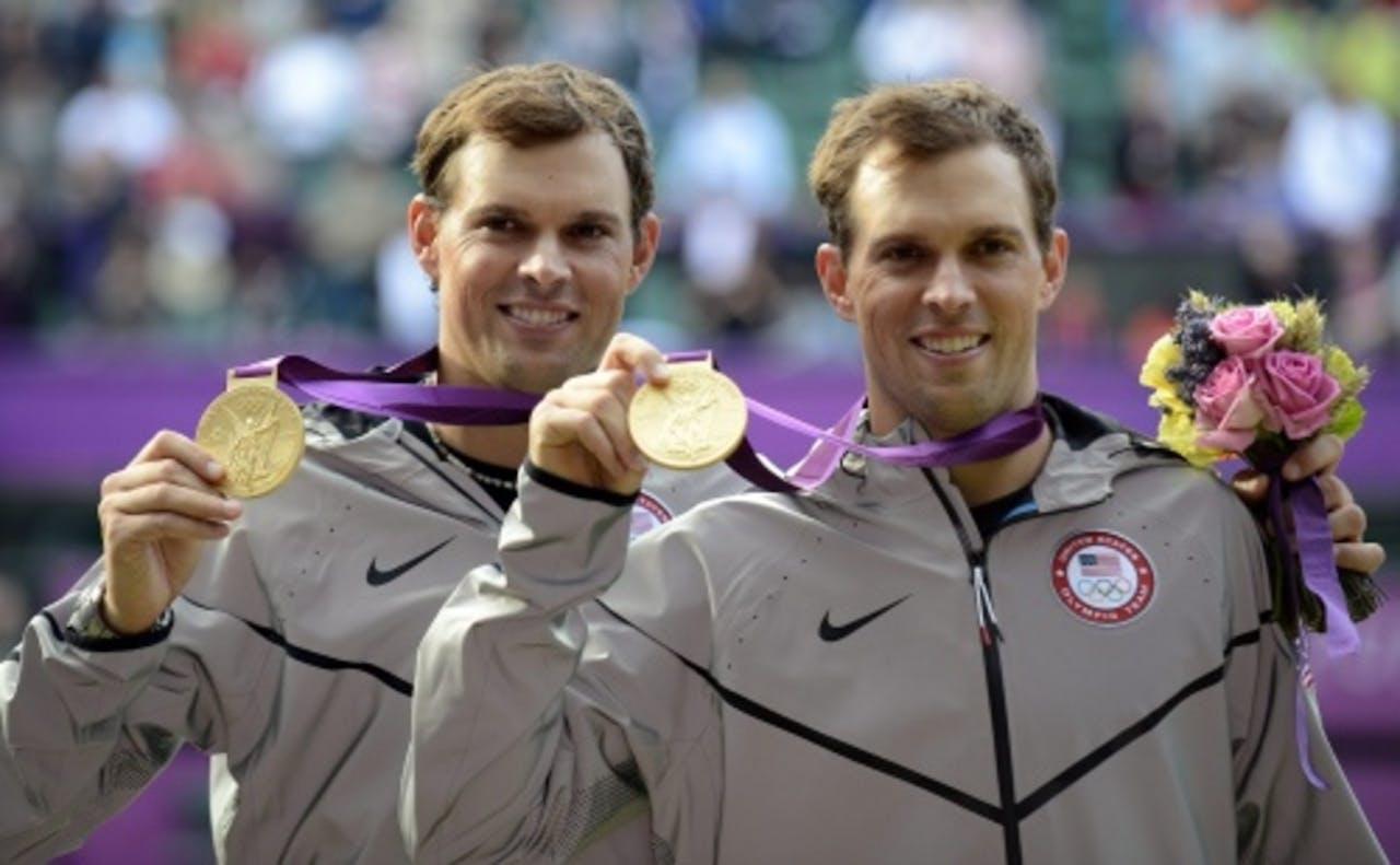 Bob en Mike Bryan wonnen in Londen ook olympisch goud. EPA