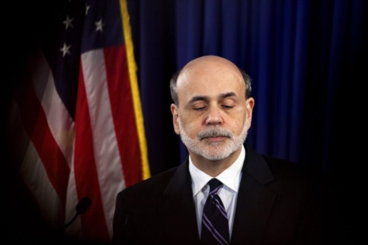 De Amerikaanse centralebankpresident Ben Bernanke. EPA