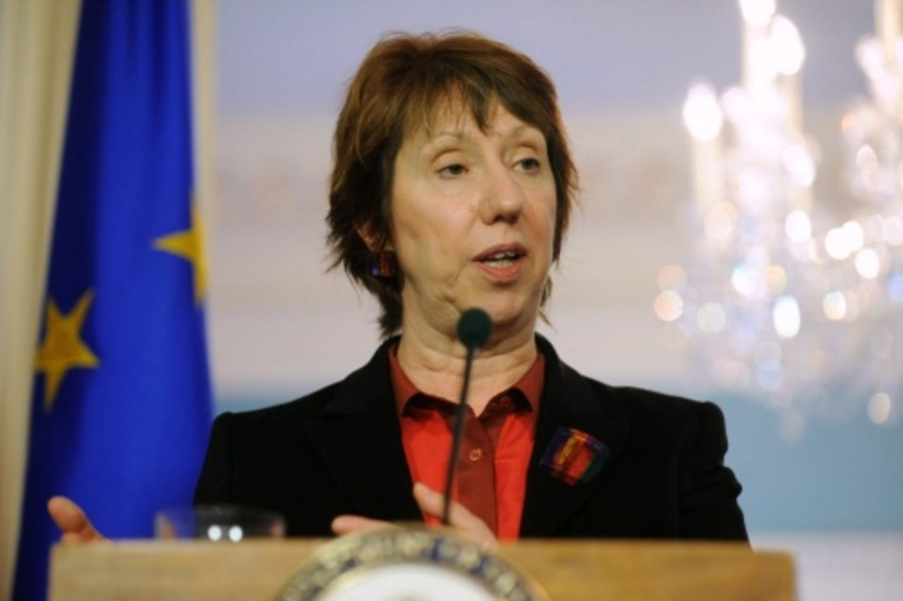 Archiefbeeld van Catherine Ashton. EPA
