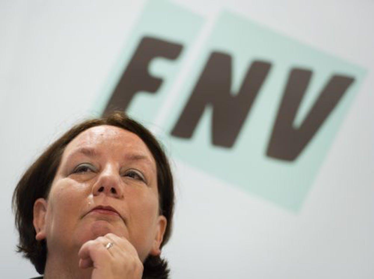 FNV-voorzitter Agnes Jongerius. EPA