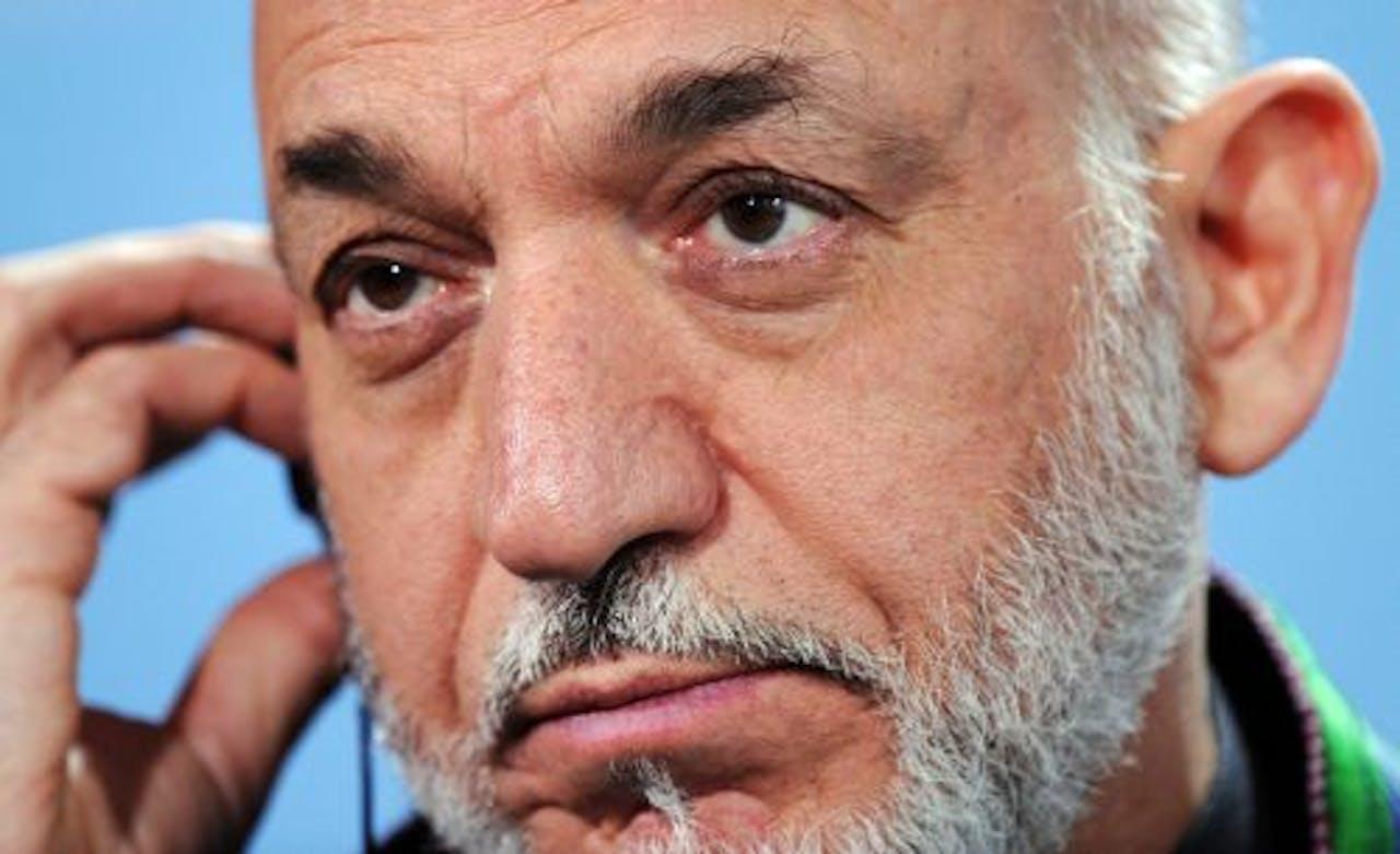 De Afghaanse president Hamid Karzai. EPA